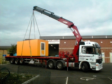 Cabins And Containers Our Range Of Hiab Hire Lorry